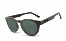 COR001 wood sunglasses - gray-green polarized