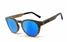 COR002 wood sunglasses - laser blue