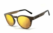 COR-002 Wooden sunglasses laser gold