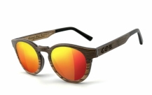 COR-002 Wooden sunglasses laser red