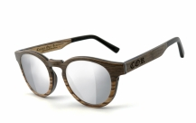 COR002 wood sunglasses - laser silver