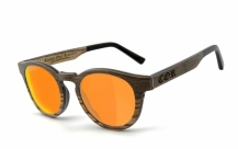 COR-002 Holz Sonnenbrille orange