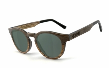 COR002 wood sunglasses - gray-green polarized