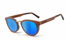 COR003 wood sunglasses - laser blue