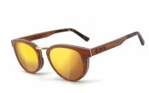 COR003 wood sunglasses - laser gold