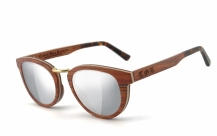 COR003 wood sunglasses - laser silver