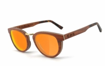COR-003 Holz Sonnenbrille orange