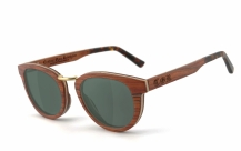 COR003 wood sunglasses - gray-green polarized