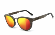 COR-004 Wooden sunglasses laser red