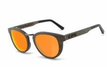 COR-004 Holz Sonnenbrille orange
