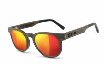 COR005 wood sunglasses - laser red