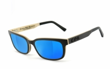 COR006 wood sunglasses - laser blue