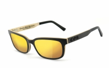 COR-006 Wooden sunglasses laser gold