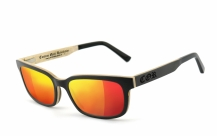 COR006 wood sunglasses - laser red