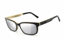 COR006 wood sunglasses - laser silver