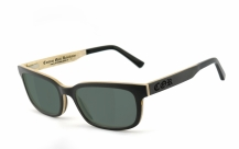 COR006 wood sunglasses - gray-green polarized