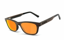 COR-010 Holz Sonnenbrille orange