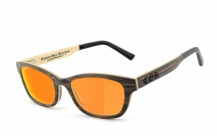 COR-011 Holz Sonnenbrille orange