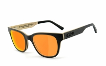 COR-014 Holz Sonnenbrille orange