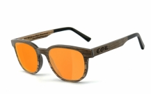 COR-015 Holz Sonnenbrille orange