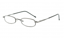 Reading glasses black-chrome