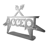 ACCEPT Logo & Flying V metal stand